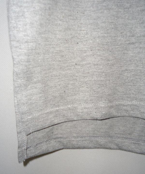【送料無料】Aphex Twin 杢グレー ロング丈 Tシャツ【新品未使用】Unitedathle 5.6オンス エイフェックス・ツイン ロゴ Mサイズ テクノ 灰_画像6
