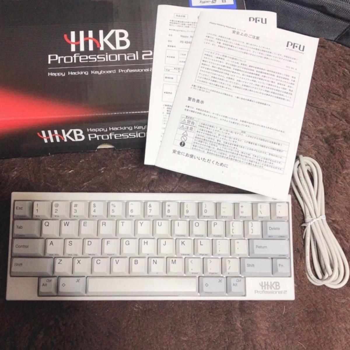 中古美品 PFU HHKB Type-S PD-KB400WS Happy Hacking Keyboard Professional2_画像2