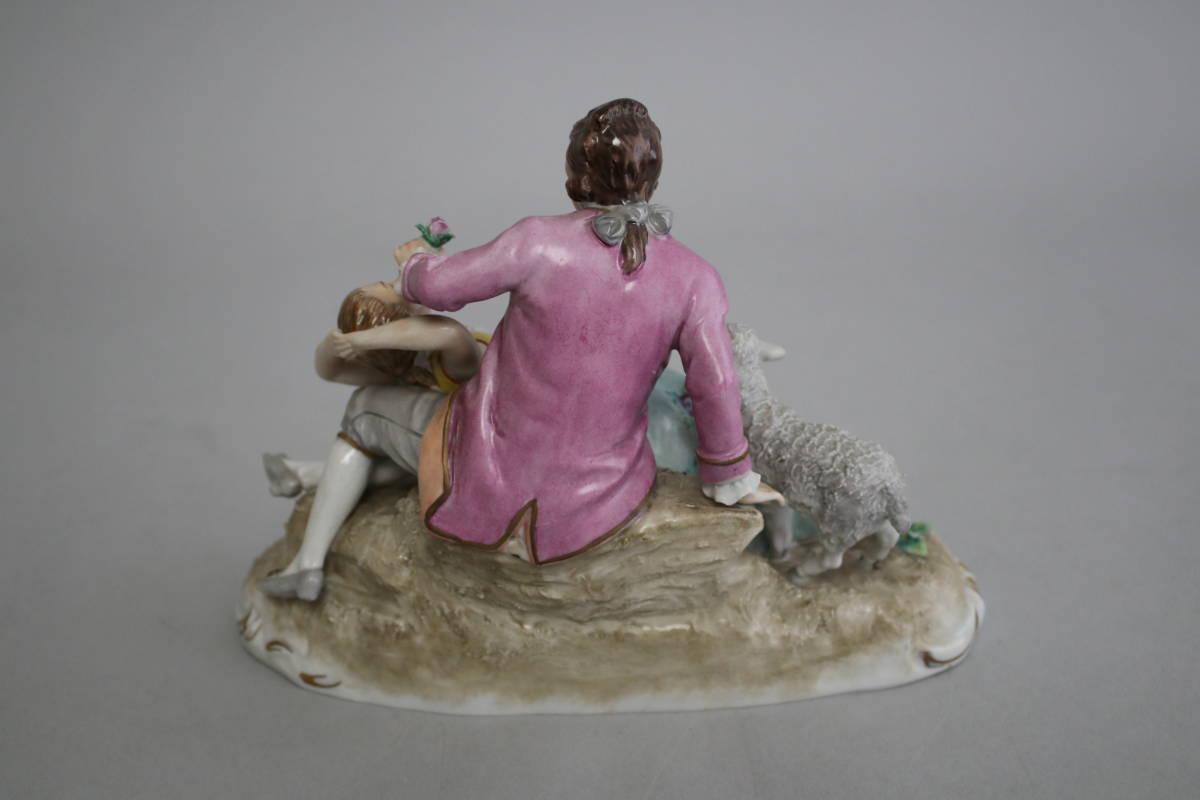 シッツェンドルフ 男性 女性 羊 レース ドール フィギュリン 陶器人形_画像3