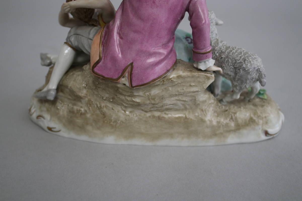 シッツェンドルフ 男性 女性 羊 レース ドール フィギュリン 陶器人形_画像9