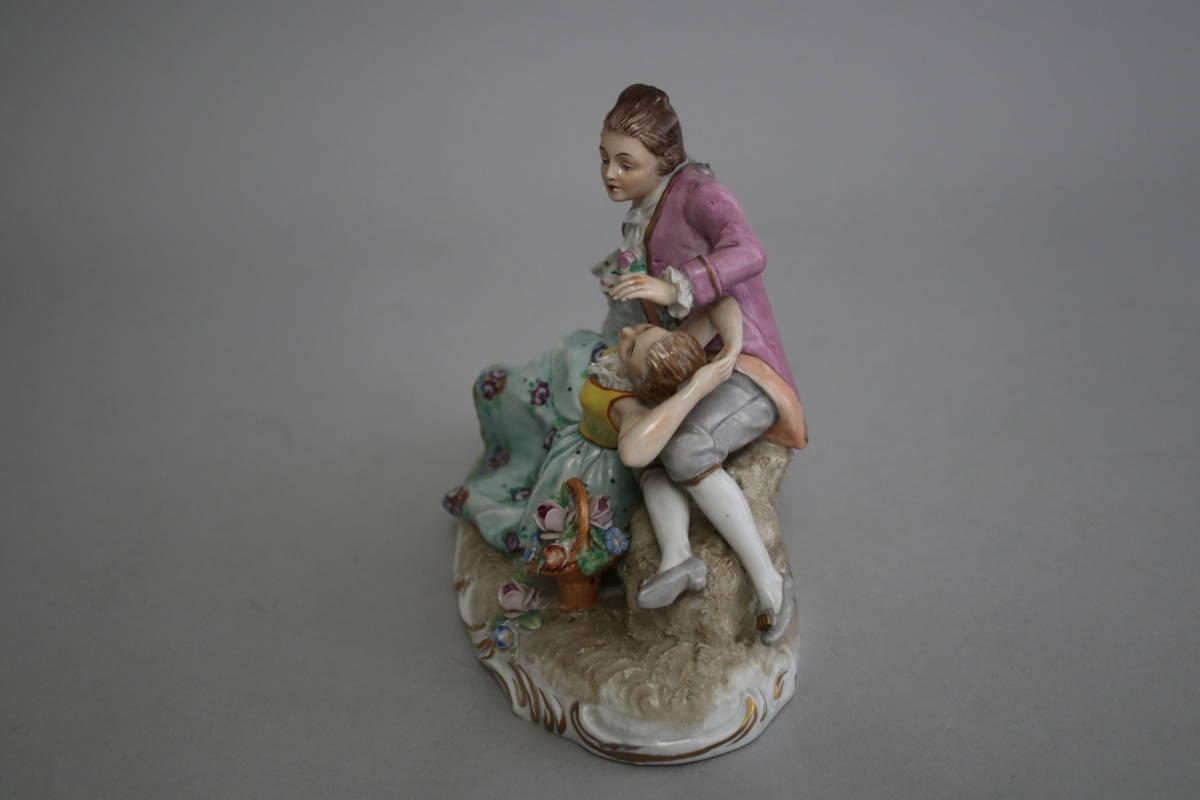 シッツェンドルフ 男性 女性 羊 レース ドール フィギュリン 陶器人形_画像2