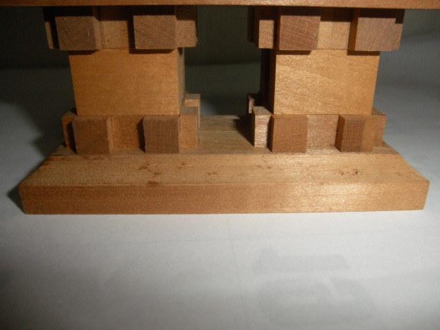 アンティーク コレクション  工芸品 木工 木 羅生門 細工物 インテリア 雑貨 飾り物 和風インテリア _画像8