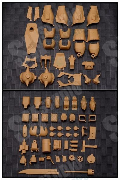 海外製 機動戦士ガンダム 第08MS小隊 PG 1/60 MS-07B グフ・カスタム グフカスタム ガレージキット ガレキ レジンキット 3_画像5