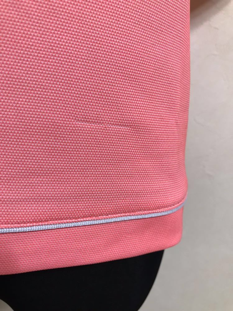 le coq sportif GOLF COLLECTION ルコック ゴルフ ウェア レディース ドライ ポロシャツ トップス サイズS 半袖 ピンク デサント QGL1651_ツレダメージあり