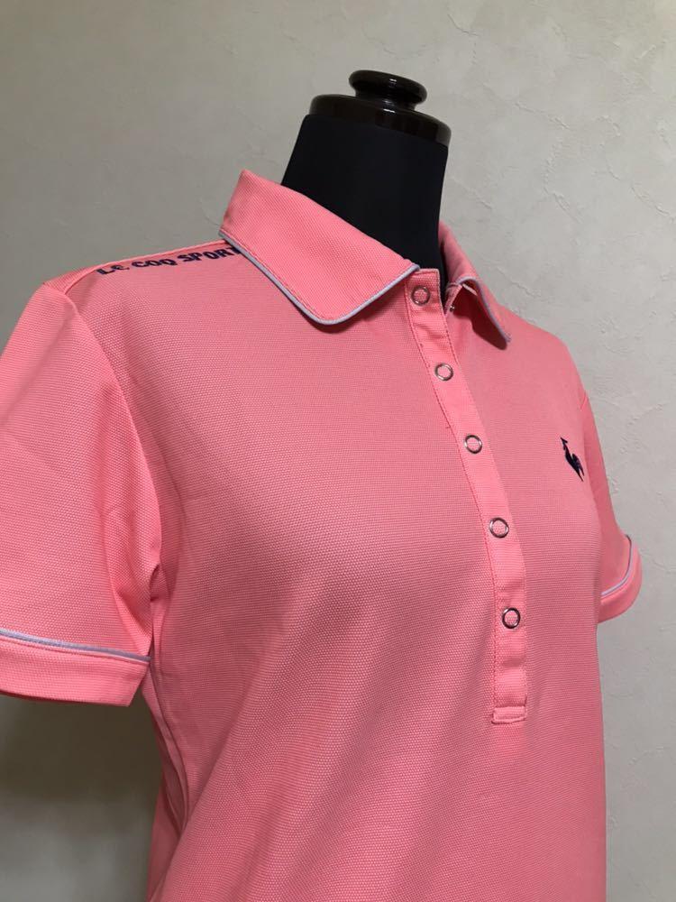 le coq sportif GOLF COLLECTION ルコック ゴルフ ウェア レディース ドライ ポロシャツ トップス サイズS 半袖 ピンク デサント QGL1651_画像9
