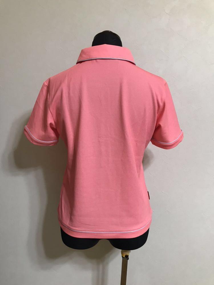 le coq sportif GOLF COLLECTION ルコック ゴルフ ウェア レディース ドライ ポロシャツ トップス サイズS 半袖 ピンク デサント QGL1651_画像2