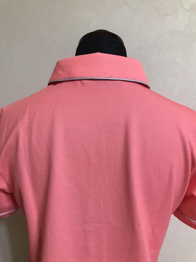 le coq sportif GOLF COLLECTION ルコック ゴルフ ウェア レディース ドライ ポロシャツ トップス サイズS 半袖 ピンク デサント QGL1651_画像4