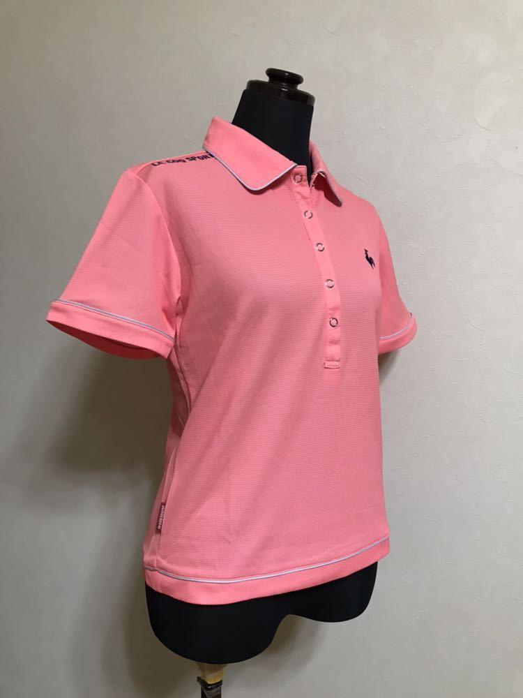 le coq sportif GOLF COLLECTION ルコック ゴルフ ウェア レディース ドライ ポロシャツ トップス サイズS 半袖 ピンク デサント QGL1651_画像8