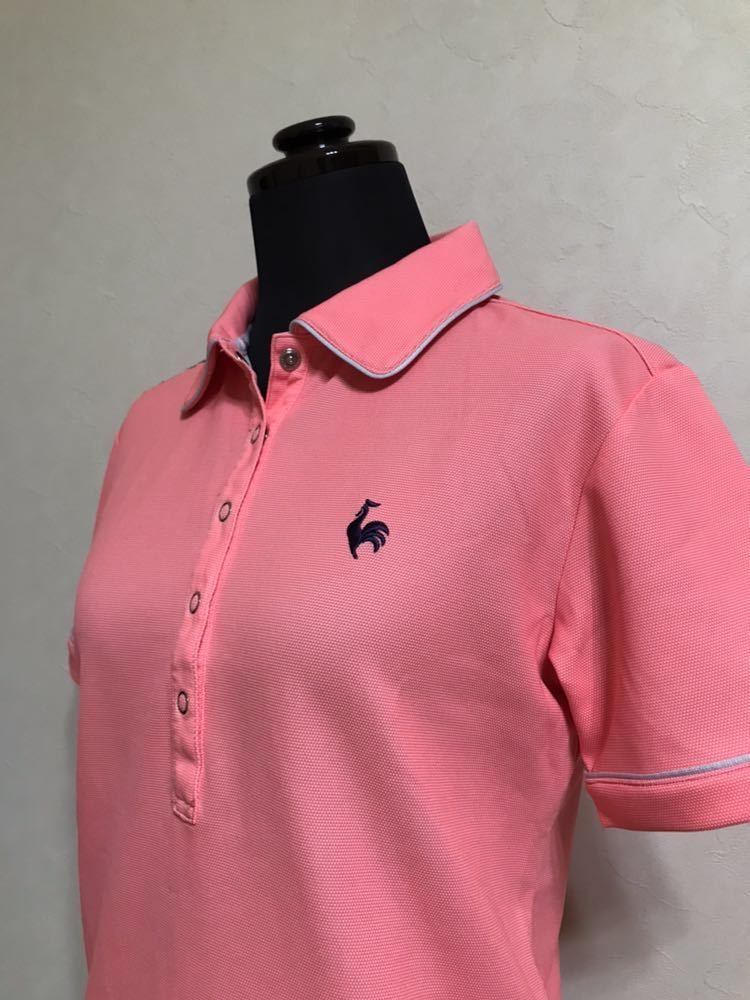 le coq sportif GOLF COLLECTION ルコック ゴルフ ウェア レディース ドライ ポロシャツ トップス サイズS 半袖 ピンク デサント QGL1651_画像7