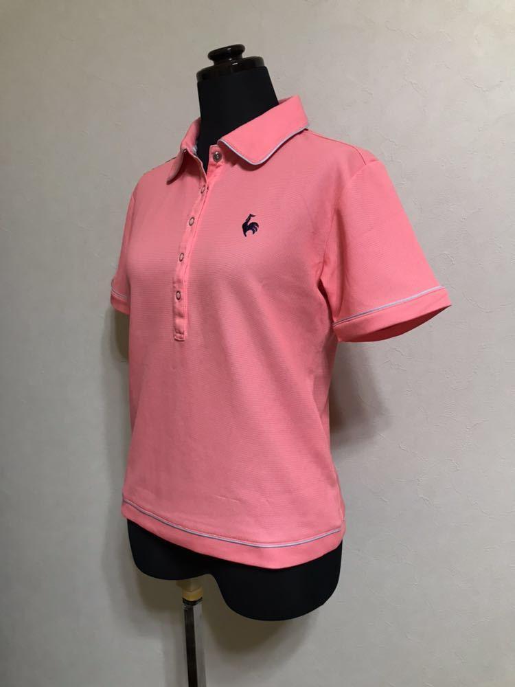 le coq sportif GOLF COLLECTION ルコック ゴルフ ウェア レディース ドライ ポロシャツ トップス サイズS 半袖 ピンク デサント QGL1651_画像6