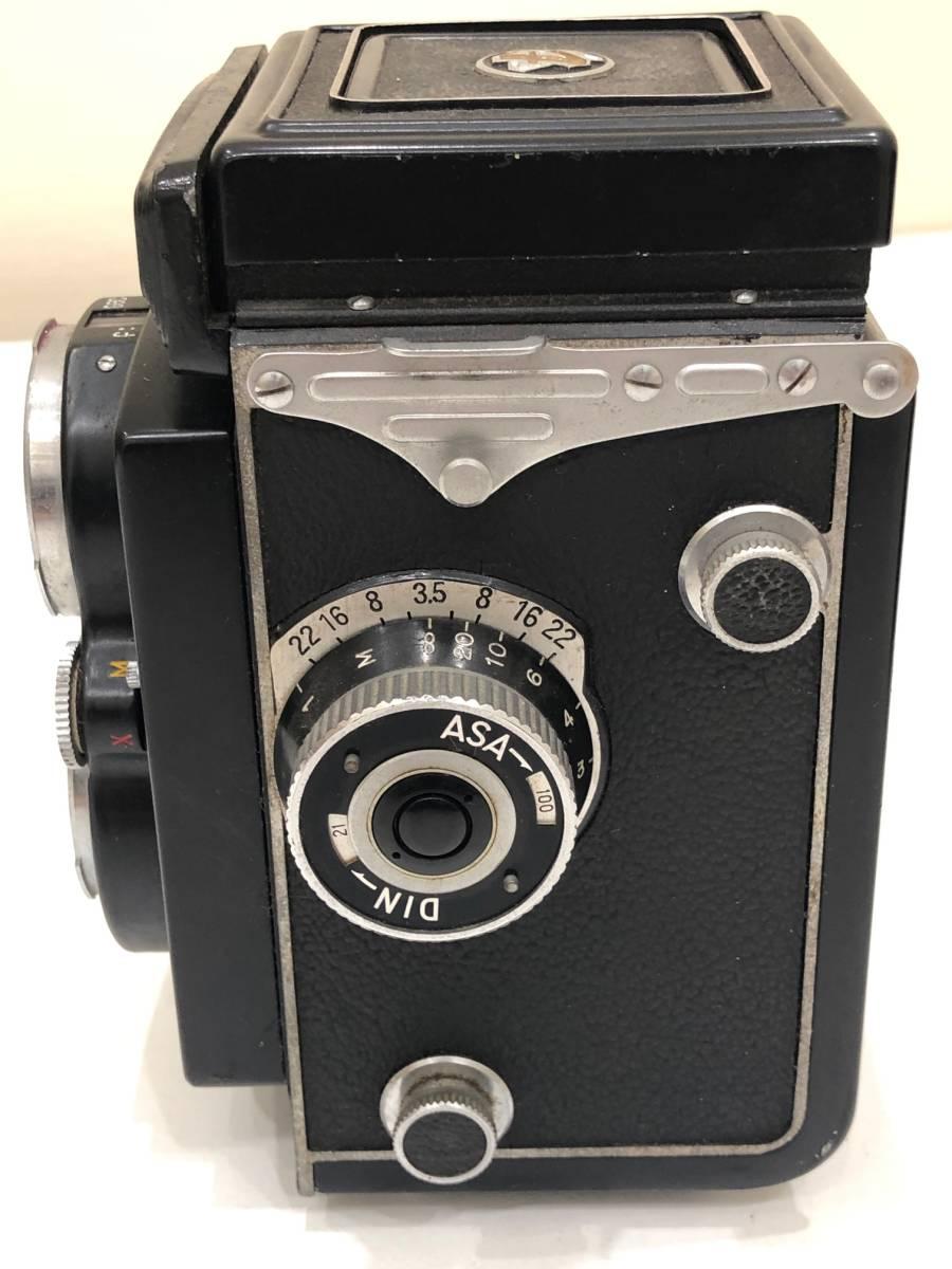 【895】二眼カメラ Yashica-mat ヤシカマット 中古品 専用ケース・検査証付き_画像4