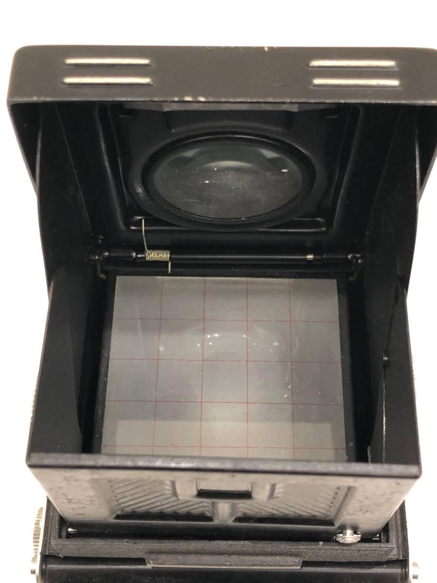【895】二眼カメラ Yashica-mat ヤシカマット 中古品 専用ケース・検査証付き_画像6
