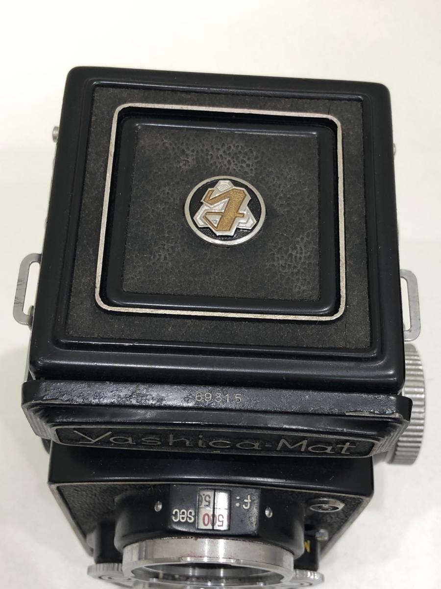 【895】二眼カメラ Yashica-mat ヤシカマット 中古品 専用ケース・検査証付き_画像7