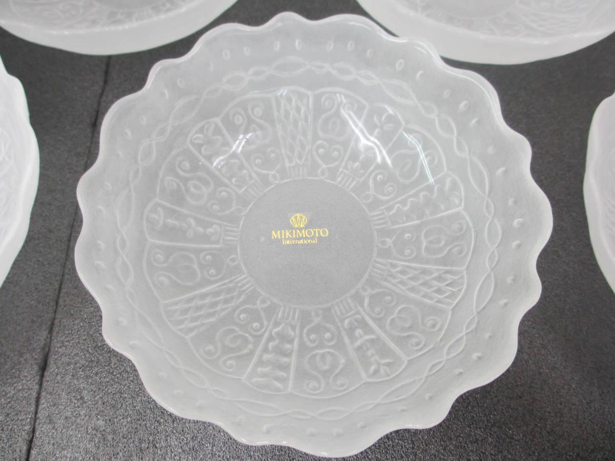 MIKIMOTO/ミキモト/ガラス 皿 5客セット/小皿/取り皿/ボウル/未使用_画像5