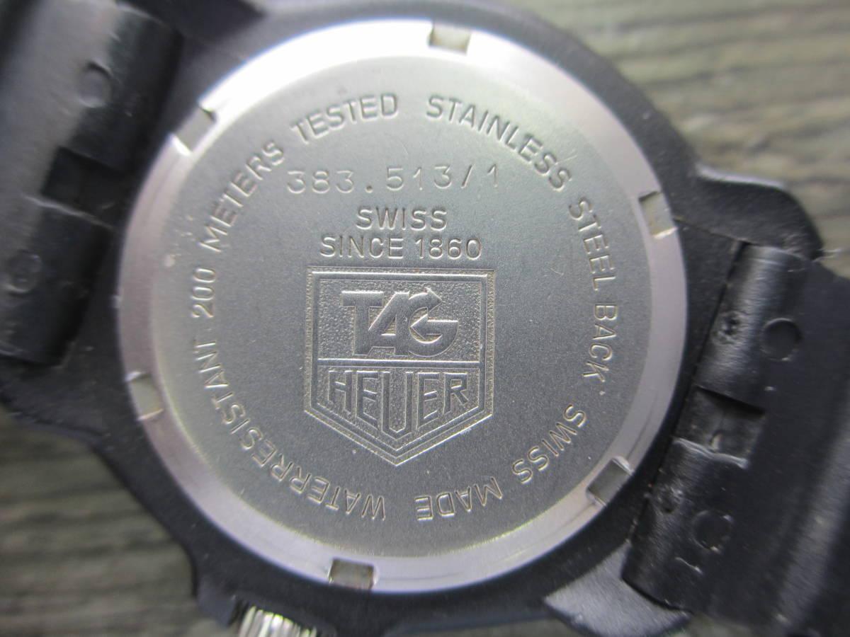 TAG HEUER/タグホイヤー/FORMULA1/フォーミュラ 1/クォーツ 腕時計/383.519/1/電池交換済み/USED_画像5