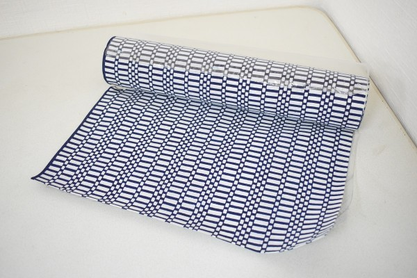 未使用品 無形文化財 長板正藍染 反物 浴衣 東京ゆかた 綿100% 箱付き F-1185_画像2