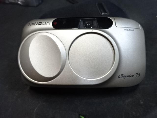 BO-62/Nikonニコン AD MINOLTAミノルタ capios75コンパクトフィルムカメラ 京セラFinecam L3Vデジカメ等まとめて ジャンク_画像9