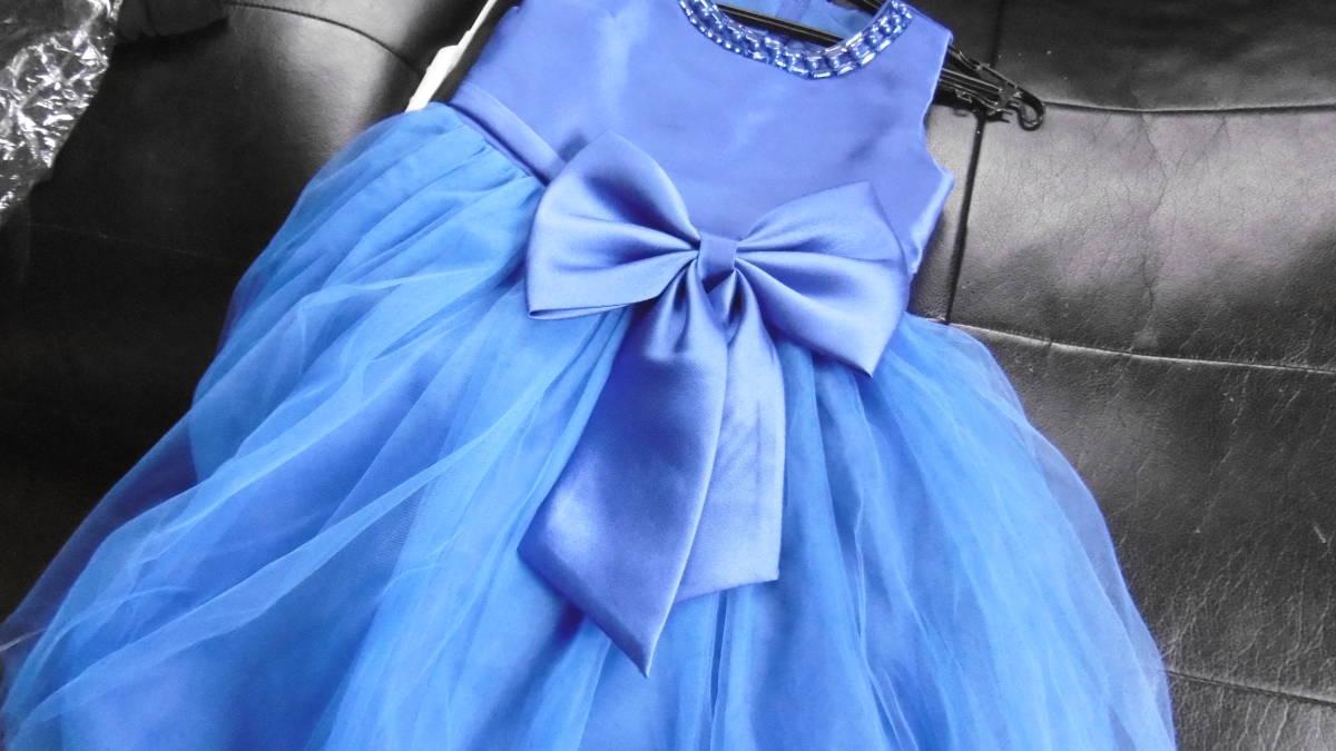 <試着のみ>発表会などに、ブルーのドレス _画像5