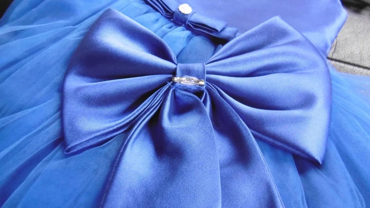 <試着のみ>発表会などに、ブルーのドレス _画像6