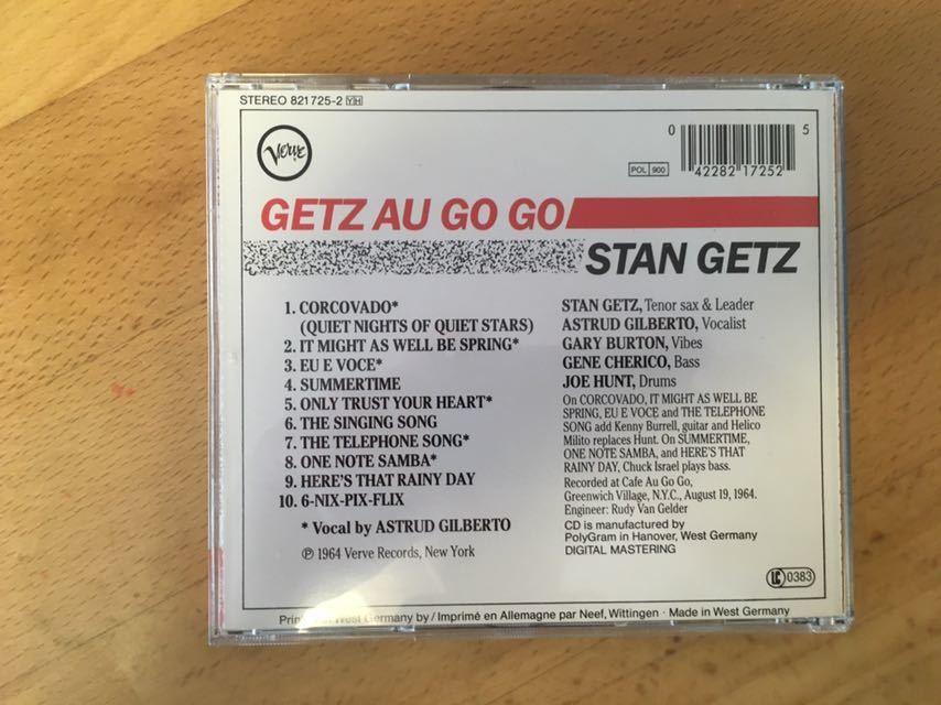 (西独盤) Stan Getz Featuring Astrud Gilberto / Getz Au Go Go スタン・ゲッツ、アストラッド・ジルベルト(Made in West Germany)_画像2