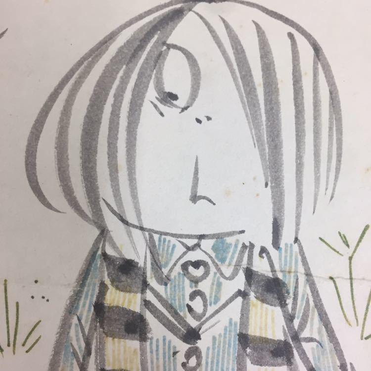 ☆水木しげる ゲゲゲの鬼太郎 直筆サイン色紙 当時物_画像3
