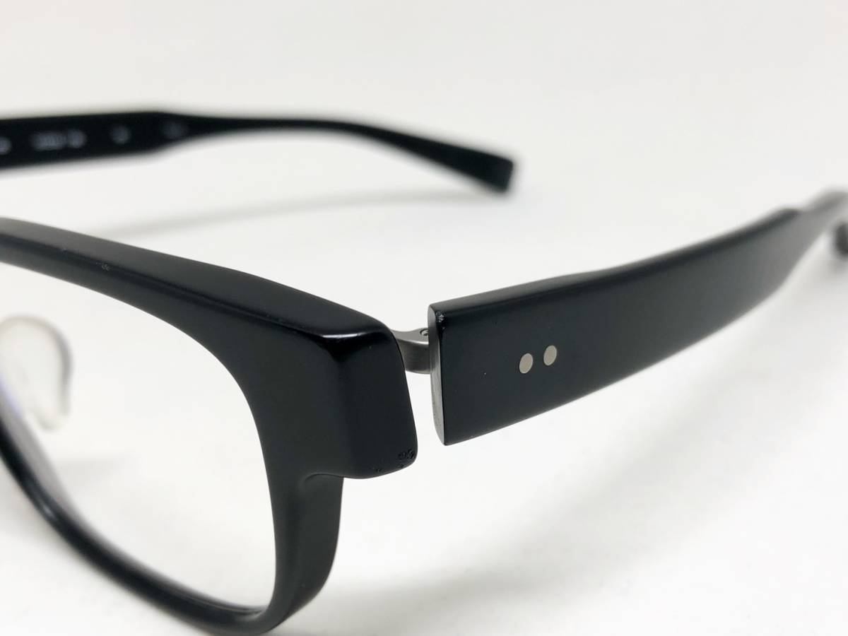 希少《 完売 / NP-66 》極上品【 999.9 フォーナインズ Col.91 マットブラック ウェリントン ネオプラスチック 眼鏡 日本製 】_画像2