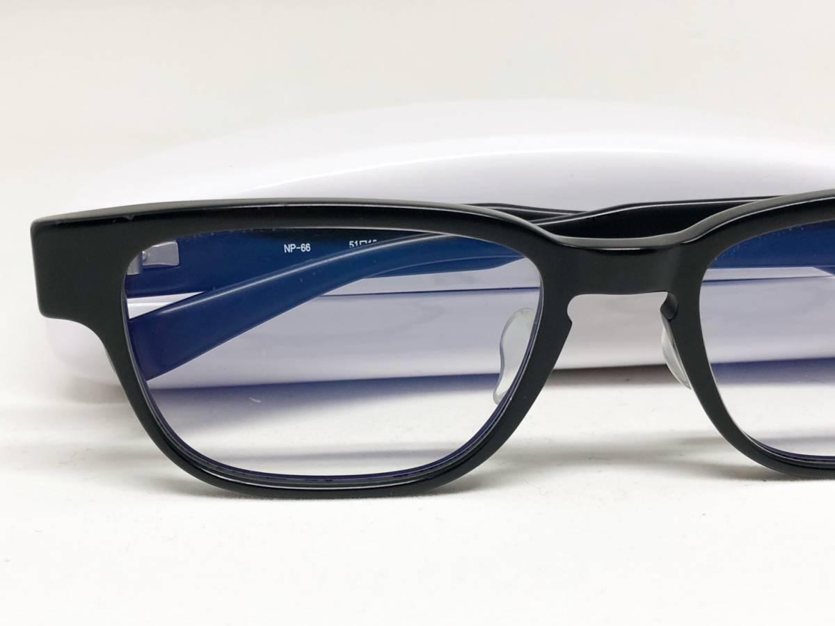 希少《 完売 / NP-66 》極上品【 999.9 フォーナインズ Col.91 マットブラック ウェリントン ネオプラスチック 眼鏡 日本製 】_画像3