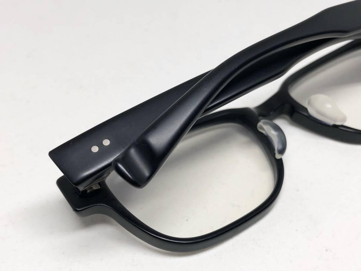 希少《 完売 / NP-66 》極上品【 999.9 フォーナインズ Col.91 マットブラック ウェリントン ネオプラスチック 眼鏡 日本製 】_画像8