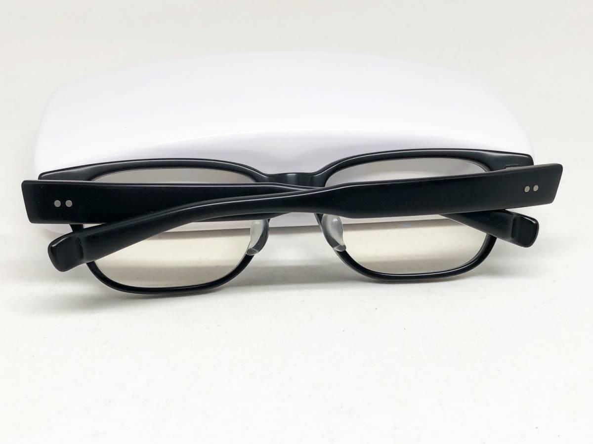 希少《 完売 / NP-66 》極上品【 999.9 フォーナインズ Col.91 マットブラック ウェリントン ネオプラスチック 眼鏡 日本製 】_画像9