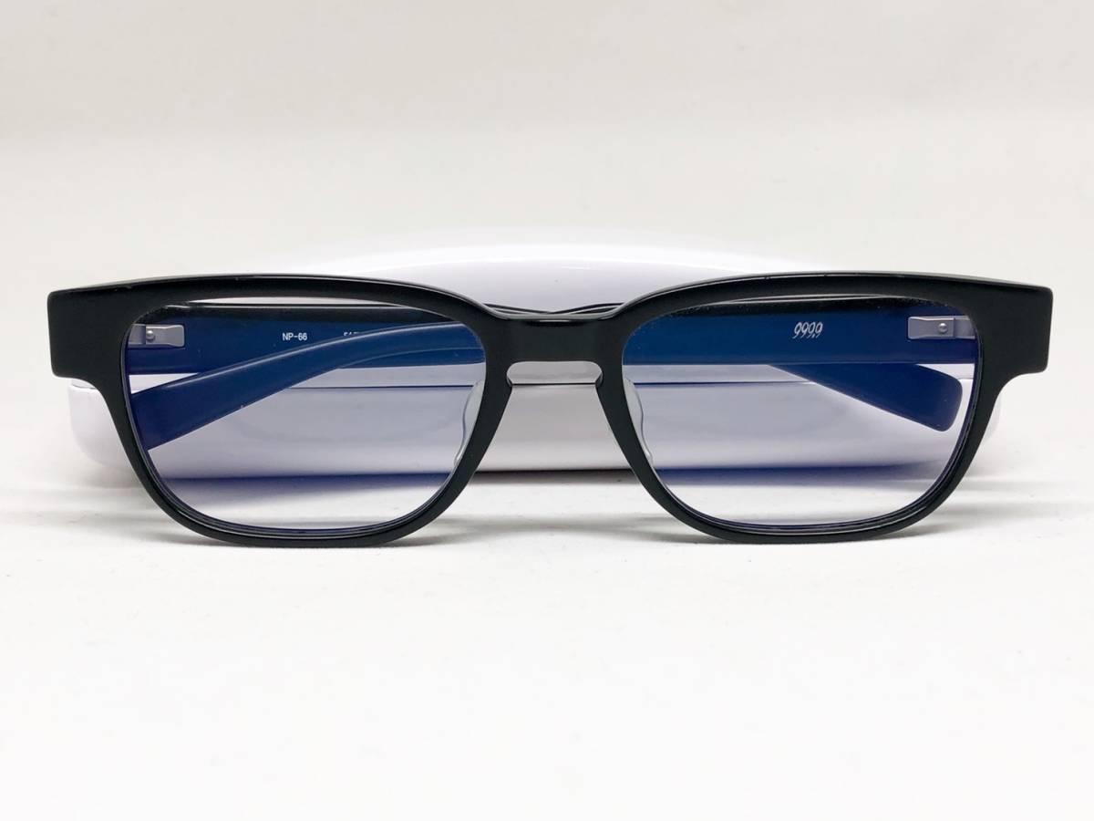 希少《 完売 / NP-66 》極上品【 999.9 フォーナインズ Col.91 マットブラック ウェリントン ネオプラスチック 眼鏡 日本製 】_画像10