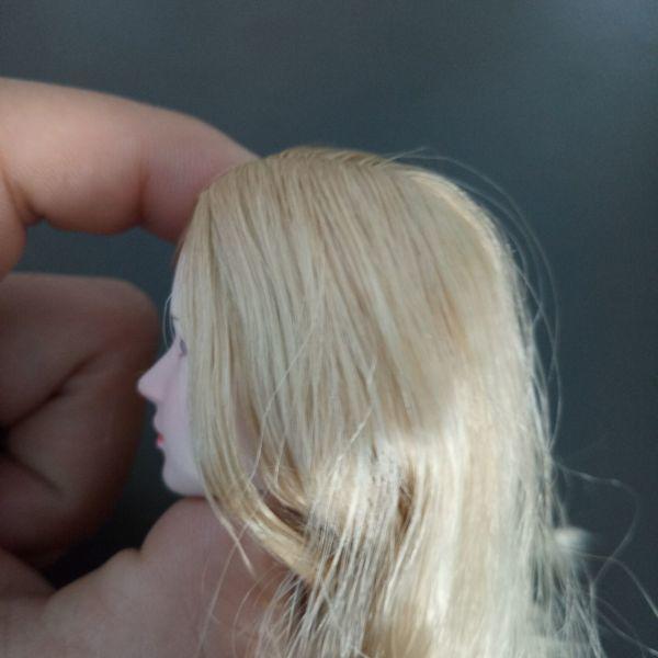 ※新品1/6 フィギュア 美人女性 ヘッド 頭シームレス 超柔軟 清楚 美人 女性 可動TBLeague対応(ヘッドのみ、素体無し)第25弾(T3028)_画像6