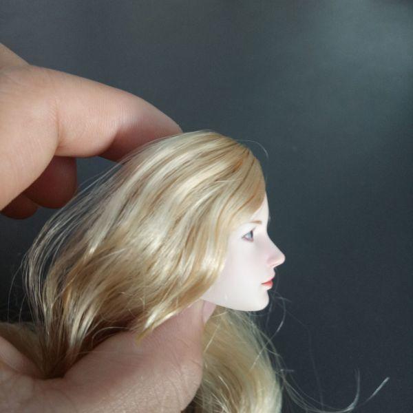 ※新品1/6 フィギュア 美人女性 ヘッド 頭シームレス 超柔軟 清楚 美人 女性 可動TBLeague対応(ヘッドのみ、素体無し)第25弾(T3028)_画像3