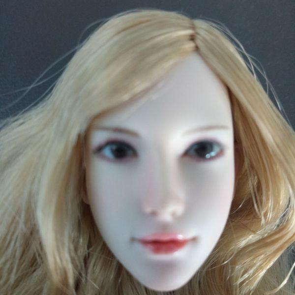 ※新品1/6 フィギュア 美人女性 ヘッド 頭シームレス 超柔軟 清楚 美人 女性 可動TBLeague対応(ヘッドのみ、素体無し)第25弾(T3028)_画像9