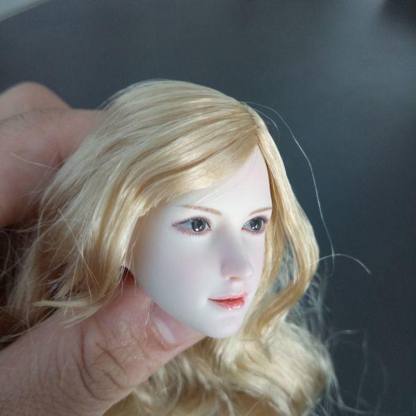 ※新品1/6 フィギュア 美人女性 ヘッド 頭シームレス 超柔軟 清楚 美人 女性 可動TBLeague対応(ヘッドのみ、素体無し)第25弾(T3028)_画像4
