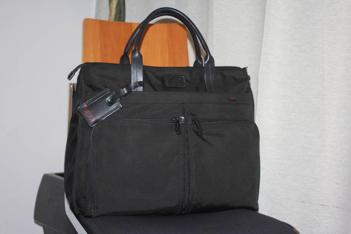 ★調整できるハンドルで肩掛け可能★TUMIトゥミ★「Style 22157」コンパニオントートバッグ★ビジネスブラック★とてもキレイな状態です♪
