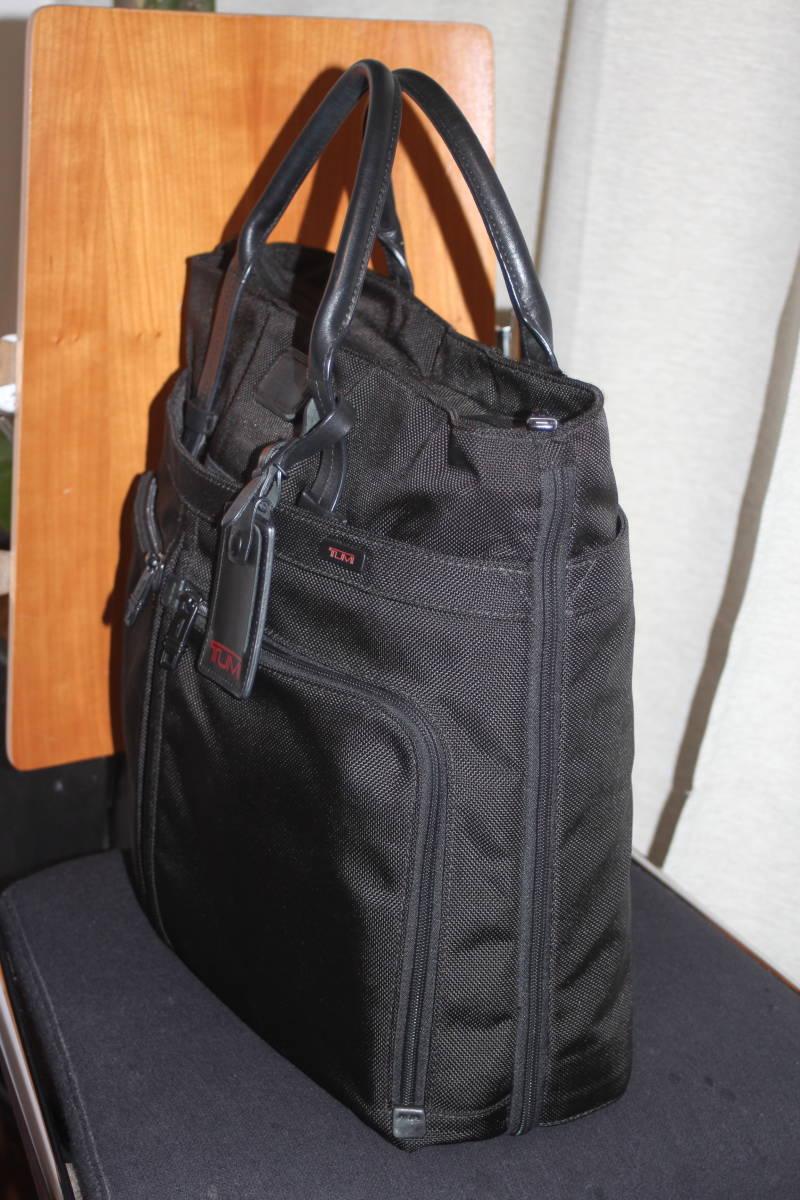 ★調整できるハンドルで肩掛け可能★TUMIトゥミ★「Style 22157」コンパニオントートバッグ★ビジネスブラック★とてもキレイな状態です♪_画像3