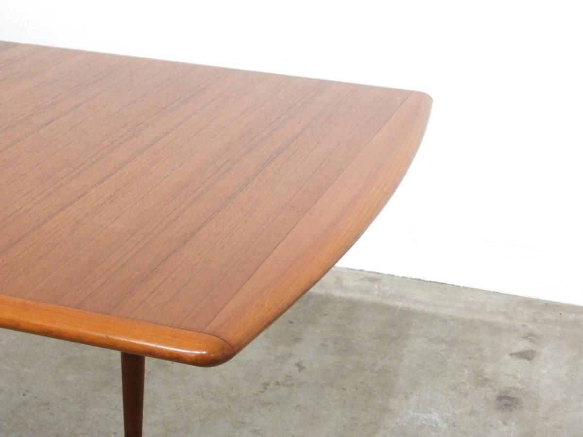 北欧モダン 70年代ヴィンテージ 辻木工 チーク材エクステンションテーブル 天板高さ69cm/ウェグナー モーエンセン フィンユール ダイニング_画像3