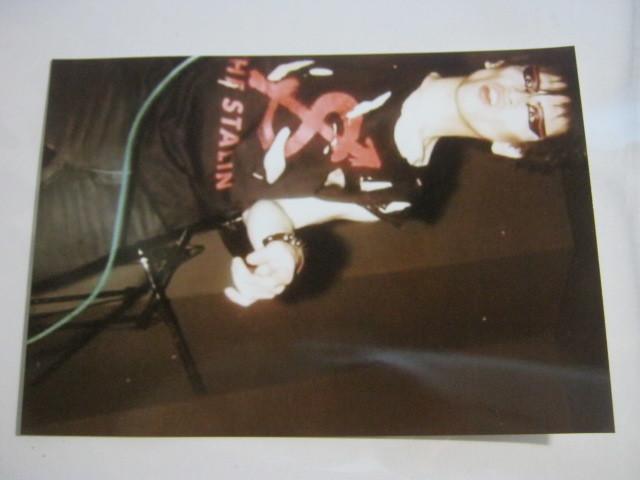 遠藤ミチロウ (スターリン) / 直筆サイン+生写真2枚 STALIN 遠藤みちろう 自閉体 _画像3