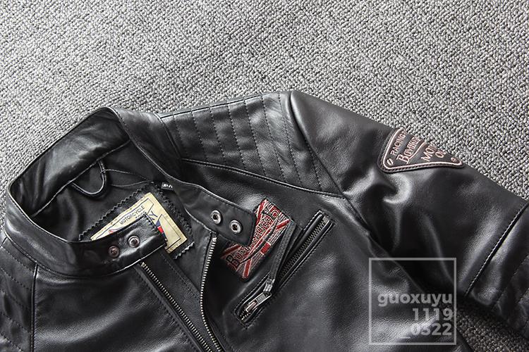 注目★高品質本革★メンズ秋バイクオートバイレザージャケット立ち襟スリムレザーシープスキンハーレー機関車レザージャケットサイズ選択可_画像5