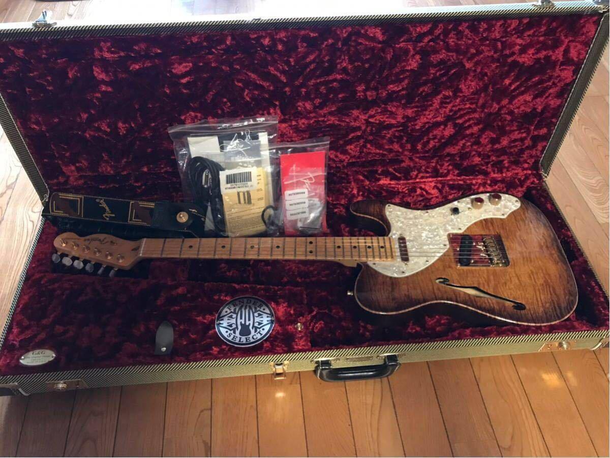 送料無料 希少限定品 Fender USA/Select Thinline Telecaster Gold Hardware Violin Burst/Maple 中古