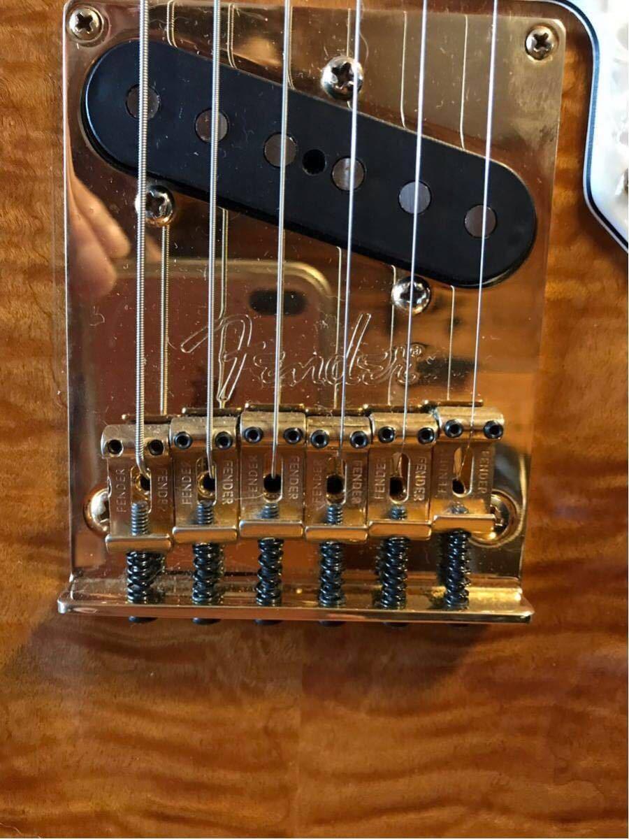 送料無料 希少限定品 Fender USA/Select Thinline Telecaster Gold Hardware Violin Burst/Maple 中古_画像9