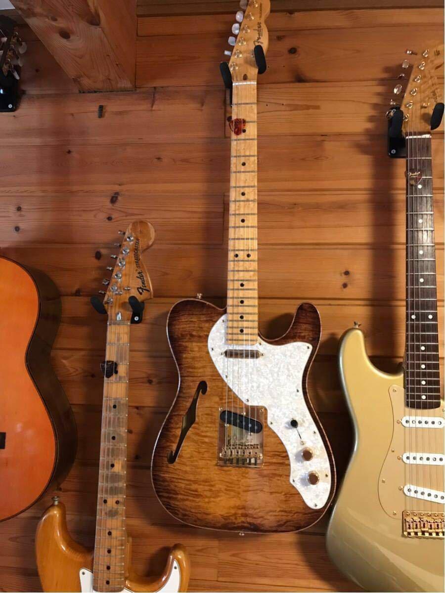 送料無料 希少限定品 Fender USA/Select Thinline Telecaster Gold Hardware Violin Burst/Maple 中古_画像2