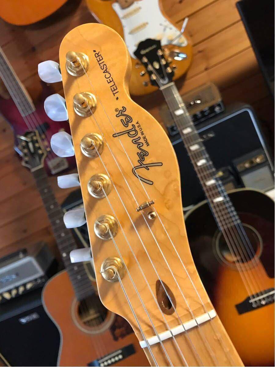 送料無料 希少限定品 Fender USA/Select Thinline Telecaster Gold Hardware Violin Burst/Maple 中古_画像3
