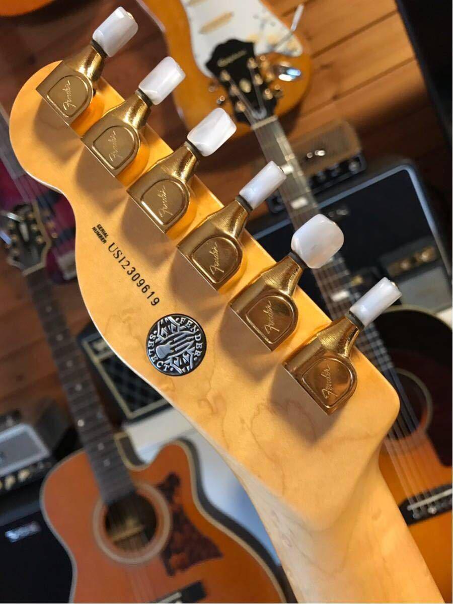 送料無料 希少限定品 Fender USA/Select Thinline Telecaster Gold Hardware Violin Burst/Maple 中古_画像4