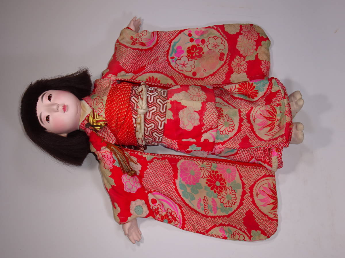 可愛い市松人形 50㎝_画像4