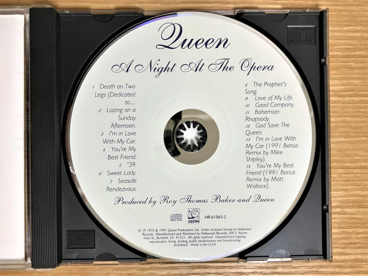 【CD】QUEEN / A Night At The Opera US版_画像3