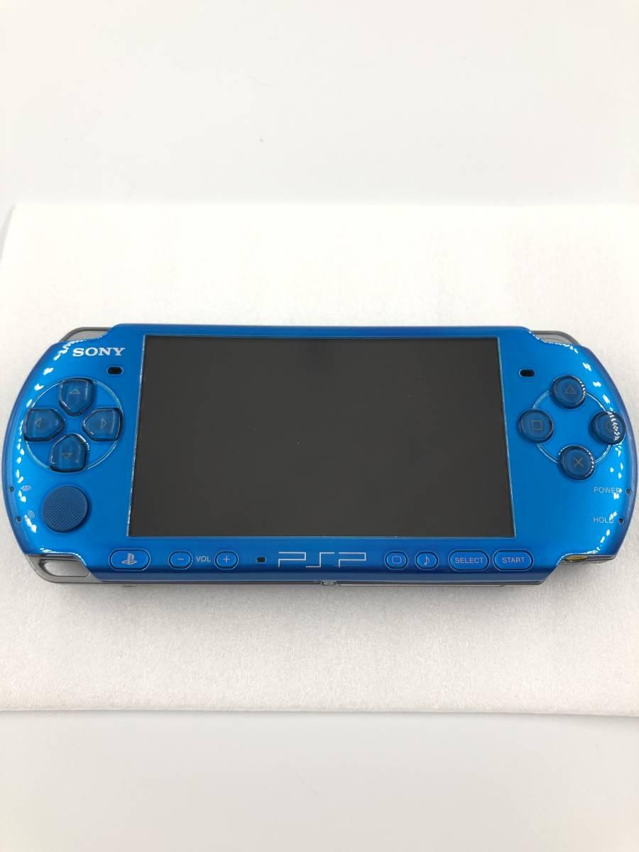★新品同様 完品★ PSP-3000 バイブラント・ブルー (PSP-3000VB) 動作保証あり_画像3