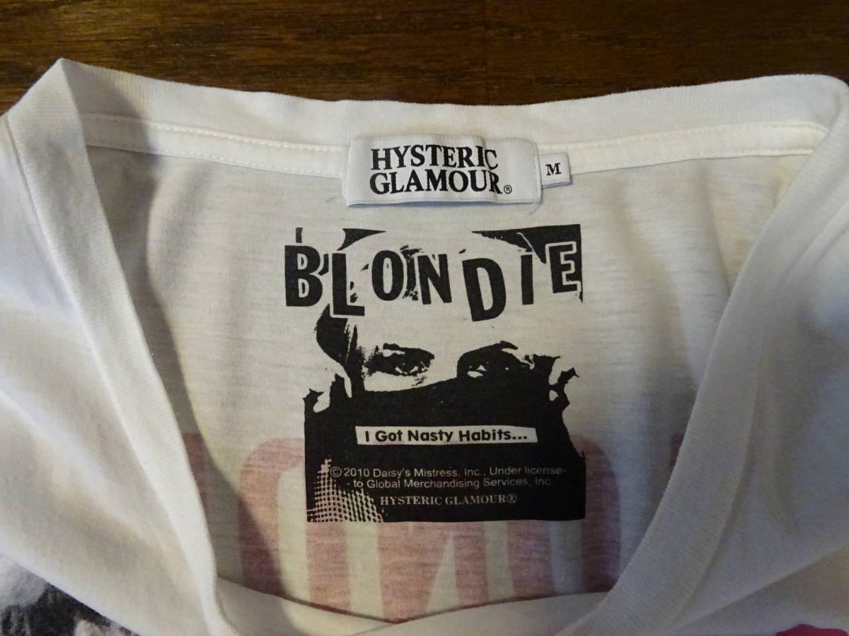 ヒステリックグラマー Tシャツ Mサイズ 白   メンズ キムタク・亀梨着BLONDIE_画像2