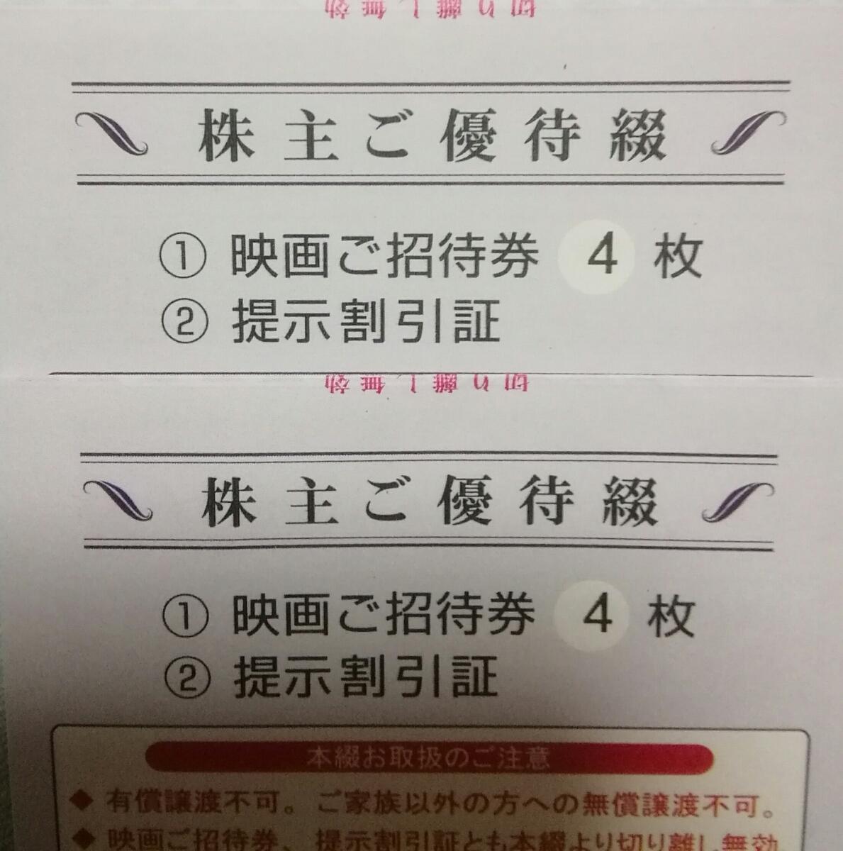 ★東京テアトル株主優待4枚 男女名義★