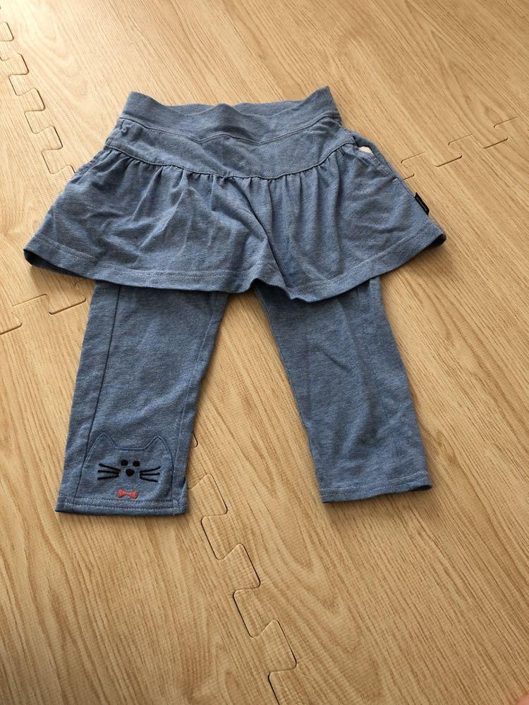 ナルミヤ クレードスコープ ねこ スカッツ 110 100 スカート スパッツ 一体型_画像1